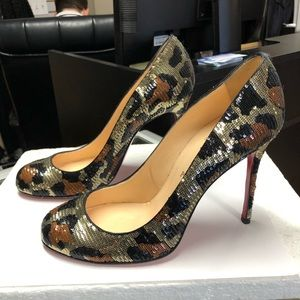 Christian Louboutin Fifi Paillettes Sequin Pumps
